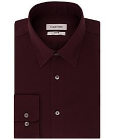Calvin Klein Men's STEEL Classic/Regular Non-Iron Stretch Performance Dress Shirt