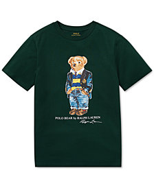 Polo Ralph Lauren Big Boys Polo Bear Cotton T-Shirt