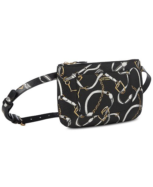 de69822dfd93 Lauren Ralph Lauren Zip-Top Plus-Size Belt Bag - Handbags ...