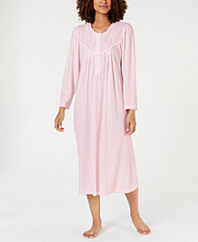 Miss Elaine Pointelle Knit Nightgown