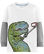 b547213fb Carter's Toddler Boys Dino Selfie Graphic Cotton T-Shirt