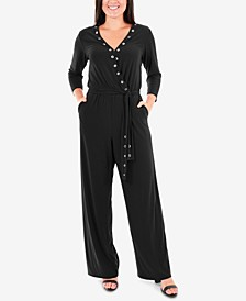 Grommet Wide-Leg Jumpsuit