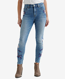 Lucky Brand Bridgette Embroidered Skinny Jeans