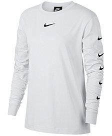 Nike Sportswear Cotton Long-Sleeve Logo Top