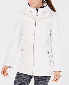 Calvin Klein Performance Quilted-Sleeve Soft-Shell Walker Jacket