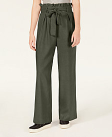 Material Girl Juniors' Tie-Waist Palazzo Pants, Created for Macy's