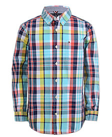 Tommy Hilfiger Little Boys Enzo Plaid Button-Front Cotton Shirt