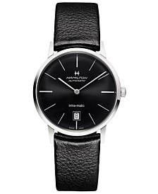 Hamilton Unisex Swiss Automatic Intra-matic Black Leather Strap Watch 38mm