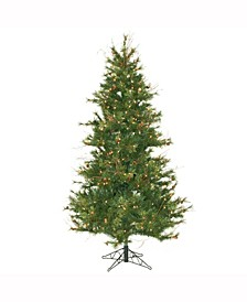 6.5 ft Mixed Country Pine Slim Artificial Christmas Tree With 400 Clear Lights