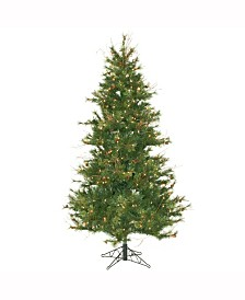 Vickerman 6.5 ft Mixed Country Pine Slim Artificial Christmas Tree With 400 Clear Lights