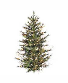 Vickerman 3 ft Mixed Country Pine Artificial Christmas Wall Tree With 100 Clear Lights