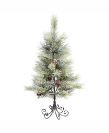 Vickerman 3 ft Frosted Bellevue Pine Artificial Christmas Tree Unlit