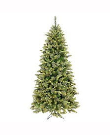 Vickerman 6.5 ft Cashmere Slim Artificial Christmas Tree With 450 Warm White Led Lights
