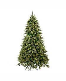 4.5 ft Cashmere Pine Artificial Christmas Tree With 250 Warm White Led Lights
