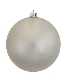"8"" Silver Candy Ball Christmas Ornament"