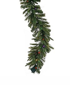 6 ft Cashmere Garland 30 Multi-Colored Led Battery Operated Lights