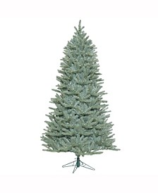7.5 ft Colorado Blue Spruce Slim Artificial Christmas Tree With 800 Warm White Led Lights