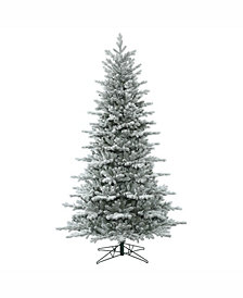 Vickerman 7.5' Frosted Eastern Frasier Fir Artificial Christmas Tree Unlit