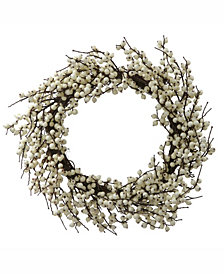 "Vickerman 28"" White Berry Artificial Christmas Wreath"