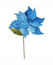 "Vickerman 22"" Turquoise Poinsettia Artificial Christmas Flower"