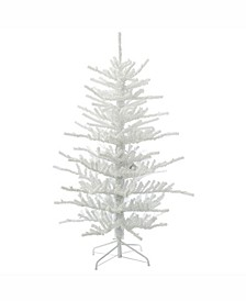 5.5' Flocked Twig Artificial Christmas Tree Unlit
