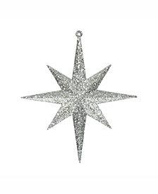 """Vickerman 8"""" Champagne Iridescent Glitter Bethlehem Star Christmas Ornament, 4 Per Box"""