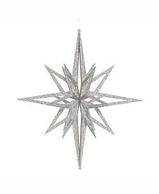"24"" Silver Iridescent Star Christmas Ornament"