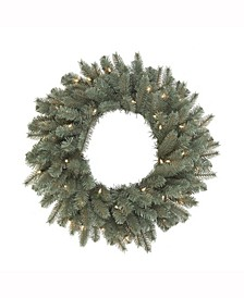 48 inch Colorado Blue Spruce Wreath, 200 Clear Dura-Lit Ul Lights, 310 Pe/Pvc Tips