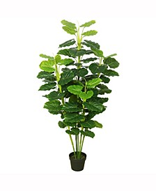 """64"""" Artificial Fresh Looking Green Philodendron"""