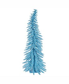 4 ft Sky Blue Whimsical Artificial Christmas Tree With 70 Blue Led Lights