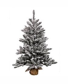 Vickerman 42 inch Flocked Anoka Pine Artificial Christmas Tree Unlit