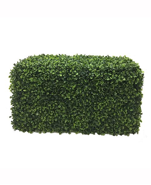 Vickerman Artificial Green Boxwood Hedge, Uv Resistant