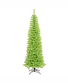 Vickerman 5.5 ft Lime Green Pencil Artificial Christmas Tree With 250 Lime Led Lights