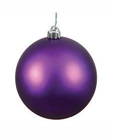 "Vickerman 8"" Plum Matte Ball Christmas Ornament"