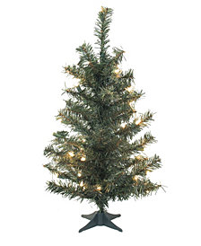 Vickerman 24 inch Canadian Pine Artificial Christmas Tree