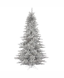 Vickerman 3' Silver Tinsel Fir Artificial Christmas Tree Unlit