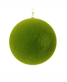 "Vickerman 12"" Moss Green Flocked Ball Ornament"