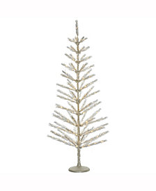 "4' X 20"" Champagne Feather Tree"