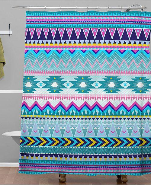 Deny Designs Iveta Abolina Trianglerain Shower Curtain