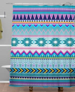 Deny Designs Iveta Abolina Trianglerain Shower Curtain Bedding