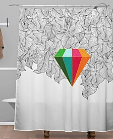 Iveta Abolina Gray Pastel Feathers Shower Curtain