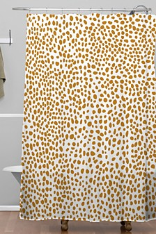 Deny Designs Iveta Abolina La Jardin Noir VII Shower Curtain