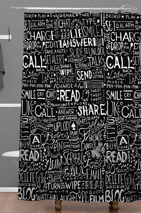 Deny Designs Iveta Abolina Noella V Shower Curtain
