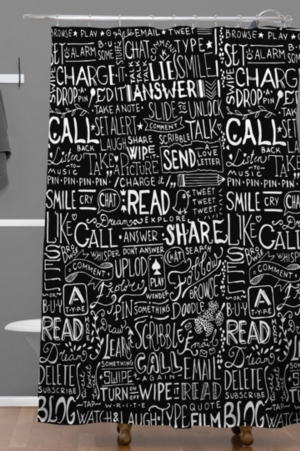 Deny Designs Iveta Abolina Noella V Shower Curtain Bedding