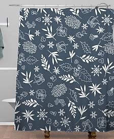 Deny Designs Iveta Abolina Oslo Winter Blue Shower Curtain
