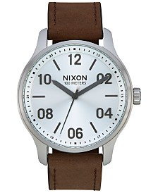 Nixon Men's Patrol Leather Strap Watch 42mm