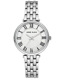 Anne Klein Women's Silver-Tone Bracelet Watch 32mm