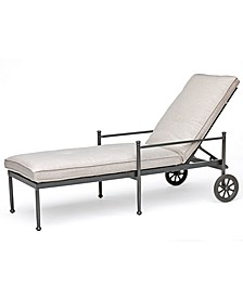 Montclaire Outdoor Chaise Lounge With Sunbrella® Cushion, Created for Macy's