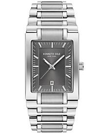 Men's Stainless Steel Tank Bracelet Watch 40mm