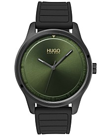 HUGO Men's #Move Gray Rubber Strap Watch 42mm